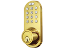 MORNING INDUSTRY INC QF-01P 3-IN-1 REMOTE CONTROL & TOUCHPAD DEAD BOLT (POLISHED BRASS)