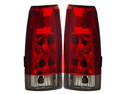 88-98 Chevy Pickup C/K 3500 Tail Lights Red/Clear New Lamps