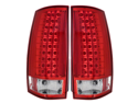07-08 Chevy Tahoe LED G3 Tail Lights Red/Clear