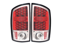 02-06 Dodge Ram 2500 LED Tail Lights Red Housing Clear Lens