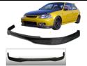96-98 Honda Civic Ek Ek9 Jdm Real Carbon Fiber Front Bumper Lip Spoiler T-R Tr