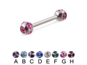 "Tiffany ball straight barbell, 14 ga,Length:1/2"" (13mm),Ball size:3/16"" (5mm),Color:black  - C"