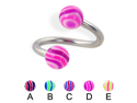 "Wave ball twister, 12 ga,Diameter:3/8"" (10mm),Ball size:3/16"" (5mm),Color:E"