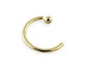 "14K Gold Nose Hoop, 20 Ga,Diameter:1/4"" (6mm),Gold color:Yellow gold"