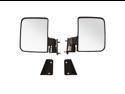 """Pair of Golf Cart Rear View Mirrors, 5"""" x 7"""" Club Car EZGO Mirrors"""