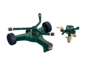Orbit 2 in 1 Lawn Impact Sprinkler & 3-Arm Rotary Yard Sprinkler w/ Wheel Base