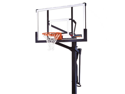 Mammoth 98862 In Ground Basketball Hoop with 60 Inch Glass Backboard