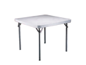 Lifetime White Granite 37 Inch Square Table with Folding Legs