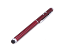 Maroon 3-in-1 Stylus Red Laser Pointer LED Light Pen Powerful Beam