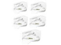 Lot 5 New Original OEM White Samsung 3.5mm EHS64 Headsets/Earphones/Headphone/Earbuds With Remote and Microphone, Comes With EarGels, For Galaxy S4, Galaxy S3, Galaxy S2, Galaxy Note/Note 2