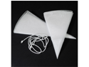 24pcs Bottle & Wine Glitter Organza Favor Gift Bags 27 Inches - Color: White