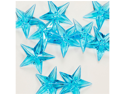 Acrylic Stars 1 1/2 inch Wedding or Party decorations 43 Pieces - Color: Turquoise