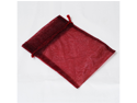 12pcs Organza Party Favor Bags or Pouches 5 x 7 inches - Color: Burgandy