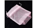 12pcs Organza Party Favor Bags or Pouches 5 x 7 inches - Color: Light Pink