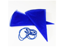 24pcs Bottle & Wine Glitter Organza Favor Gift Bags 27 Inches - Color: Royal Blue