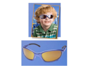 Eagle Eyes Sunglasses-Rock-It Collection For Kids Ages 6 to 10 yrs- Rocketeer (Blue)