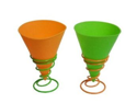 Back to Basics 2-Pack Snow Cone Cups and Holders, Colors may vary