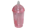 Slushie Express Replacement Cup with Lid, Spoon, Straw - Pink