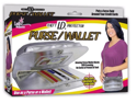 Lady Elegance Theft ID Protector RFID Purse/Wallet- Silver