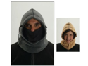 Hot Headz Hot Wavez Reversible 6 in 1 Fleece Hood