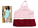 Zip n Dry Apron w/ Attached Towel (Pink Apron/Burgundy Red Towel)