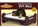 Pet Store Dog Bone Shaped Wooden Pet Bed