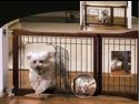 Pet Store Adjustable Pet Gate w/ Metal Door
