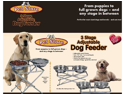 Pet Store 3 Stage Adjustable Dog Feeder