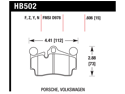 Hawk Performance HB502Z.606 Disc Brake Pad