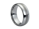 Tungsten Carbide Polished Shiny with Brushed Center 8mm Wedding Band Ring