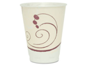 Symphony Design Trophy Foam Hot/Cold Drink Cups, 12 Oz., Beige, 100/Pa