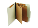 Pendaflex 02602 Pressboard Classification Folder, Letter, Eight-Section, Leaf Green, 10/Box