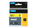 "DYMO Rhino Flexible Nylon Industrial Label Tape Cassette, 1/2"" x 11-1/2ft, Yellow"