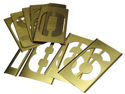 Brass Stencil Number Set