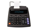 16000 Two-Color Roller Printing Calculator, 12-Digit Fluorescent, Blac