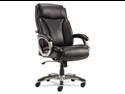 Veon Series Executive High-Back Leather Chair, W/ Coil Spring Cushioni