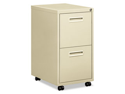 "Embark Series File/File Pedestal File w/2 ""M"" Pull Drawers, 22d, Putty"