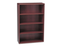 10700 Series Bookcase, 4 Shelves, 36w x 13-1/8d x 57-1/8h, Mahogany