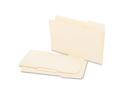 Recycled Interior File Folders, 1/3 Cut Top Tab, Legal, Manila, 100/Bo