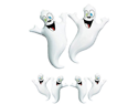 2 Large 16 Inch Inflatable Halloween Ghosts Decorations