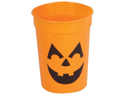 New Plastic Halloween Pumpkin Party Beer Drinking Glass