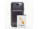 Hyperion Samsung Galaxy Note II 6200mAh Extended Battery + Titanium Grey Back...