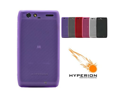 Hyperion Motorola DROID RAZR MAXX 4G Matte Purple TPU Case (Retail Packaging)