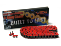 530 O-Ring O Ring Motorcycle Chain with 150 Links for Extended Swingarm - Red