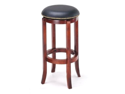 "Manchester 29"" Wood / Faux Leather Barstool, Black Licorice"