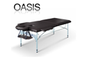 Oasis Elite Professional Aluminum Portable Folding Massage Table w/Bonuses - Charcoal Black