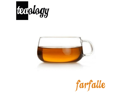 NEW! TEAOLOGY FARFALLE BOROSILICATE GLASS TEA CUP/COFFEE MUG - 6.75oz/200ml