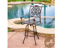 Christopher Knight Home Casselberry Cast Aluminum Outdoor Copper Bar Stool
