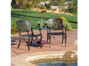 Christopher Knight Home Sarasota Bronze Cast Aluminum Outdoor Adjoining Chair