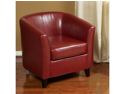 Christopher Knight Home Preston Red Bonded Leather Tub Club Chair